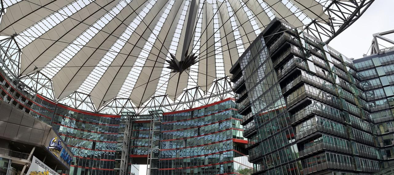 The Sony Centre in Berlin, Germany