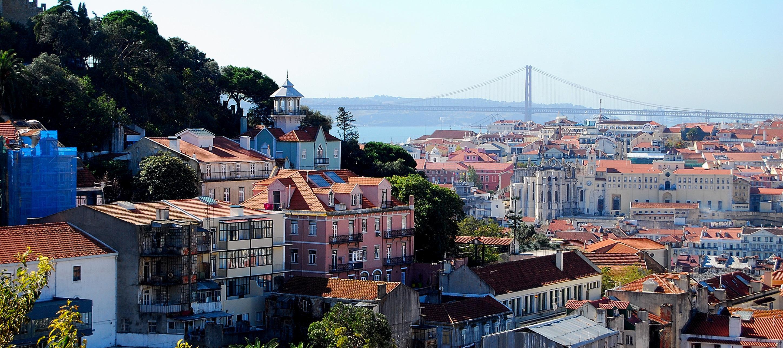 View over Lisbon city