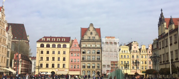 The main square in Wroclaw, Poland