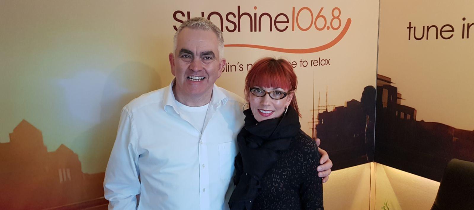 Paul Hackett and Carol Dooley on Sunshine 106.8