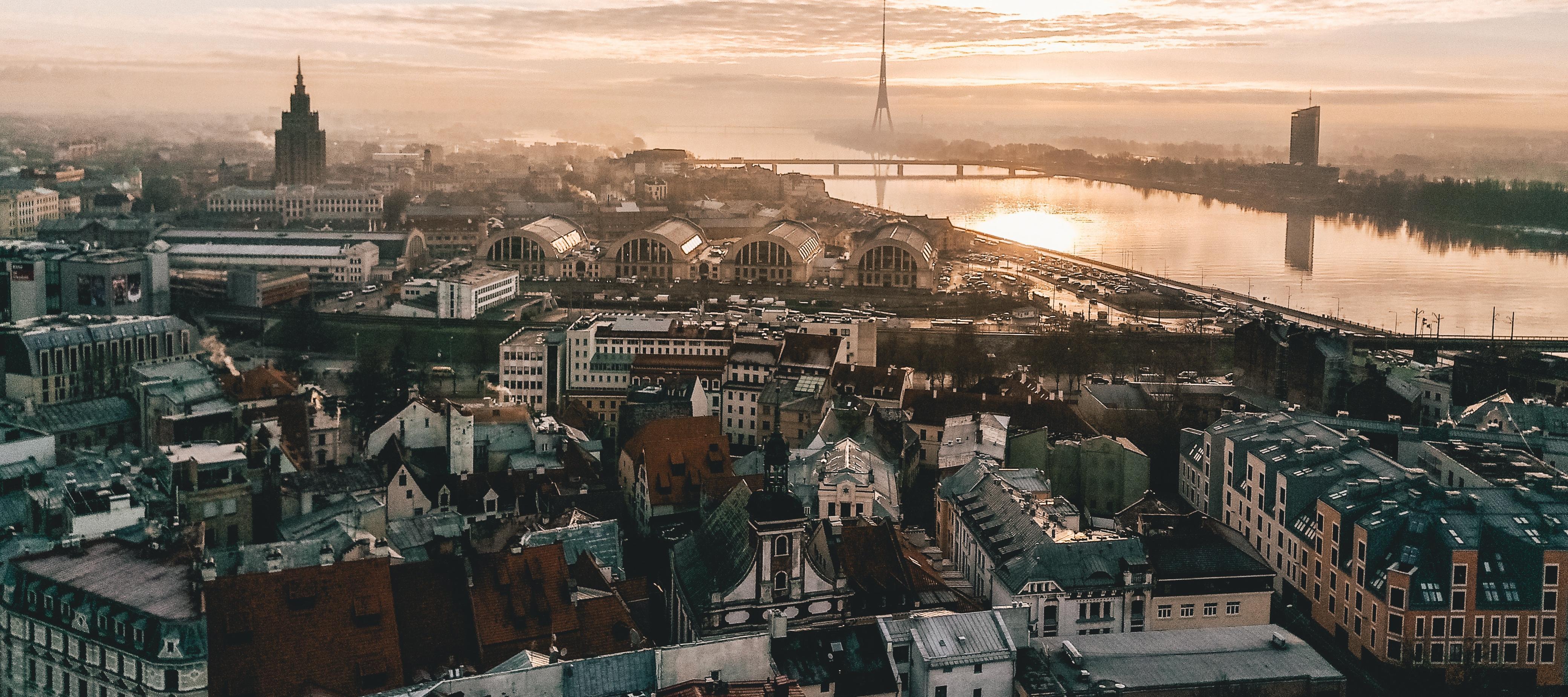 Sunset over Riga | Cheap City Breaks in 2018