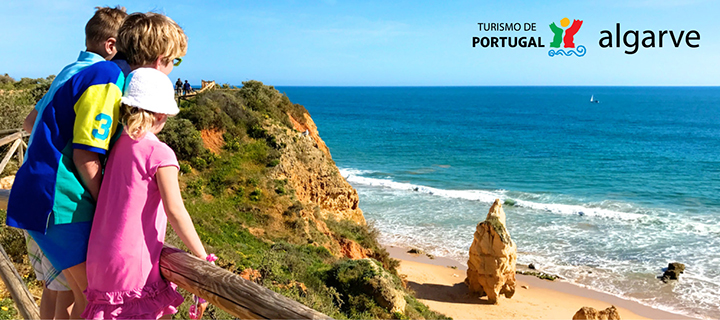 Family on Algarve Beach | Family destinations in the Algarve