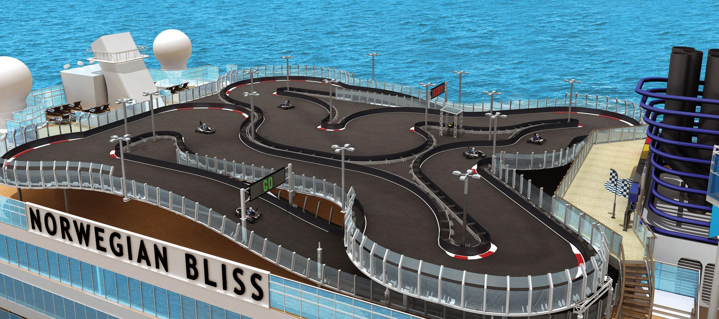 © Norwegian Cruise Line Bliss Race Track