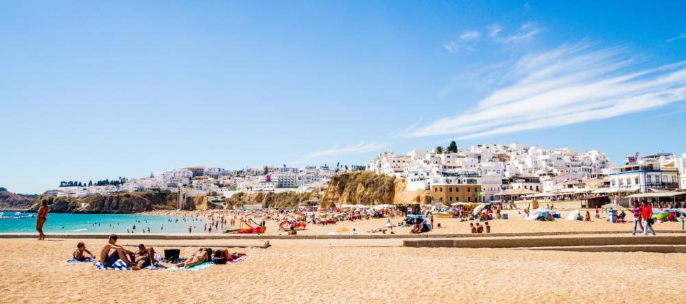 Fisherman's Beach in Albufeira, Portugal