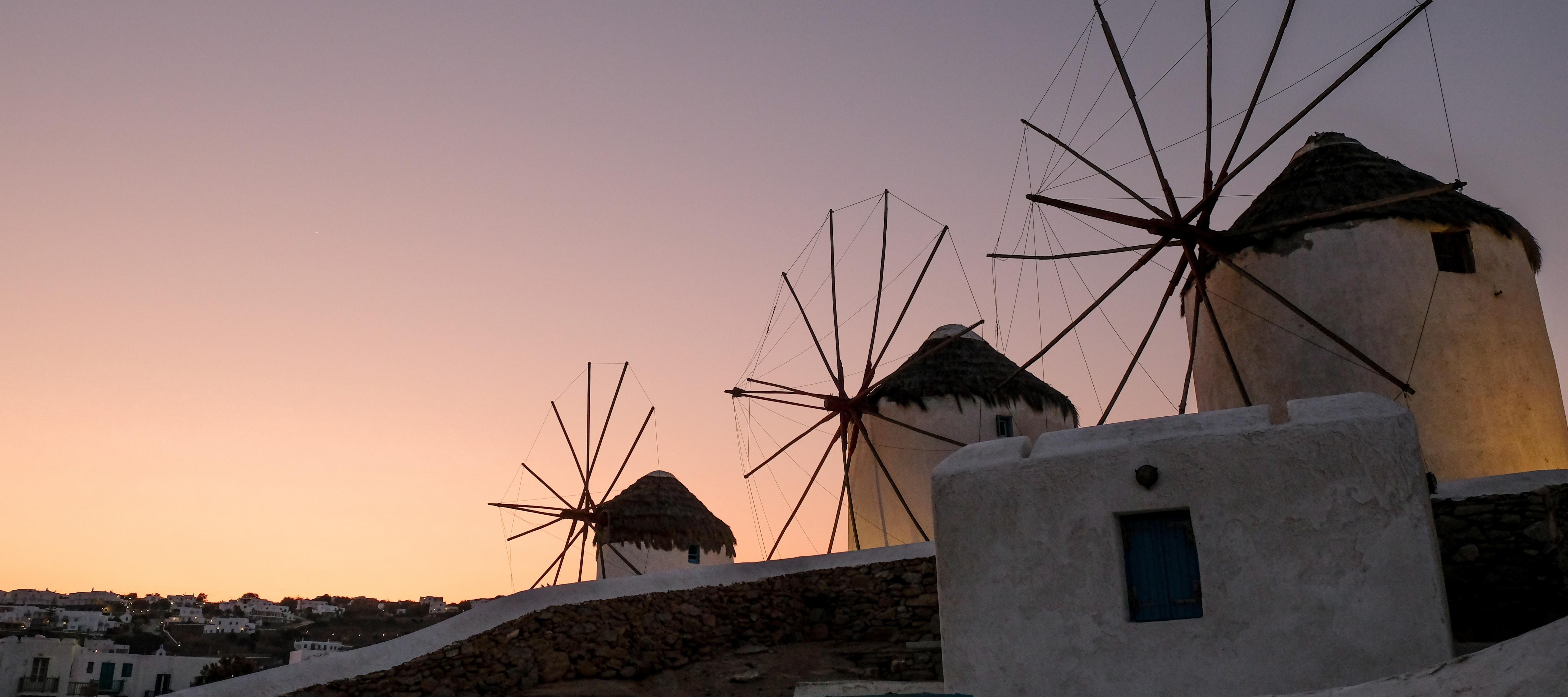 Windmills of Chora, Mykonos