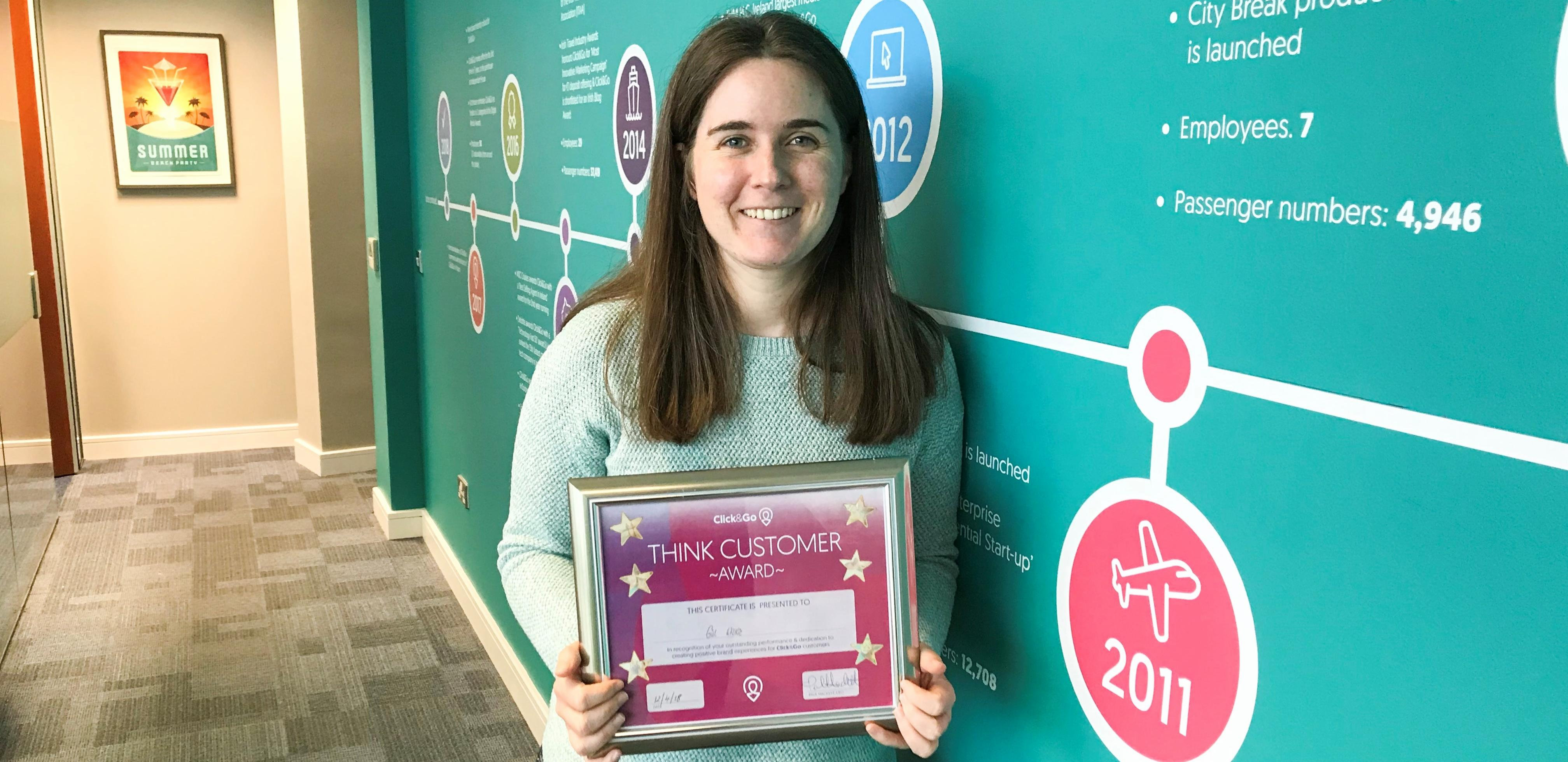 Gill Wilkie - Click&Go Think Customer Award Winner March 2018