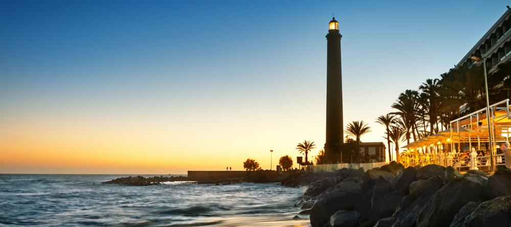 Maspalomas Lighthouse in Gran Canaria