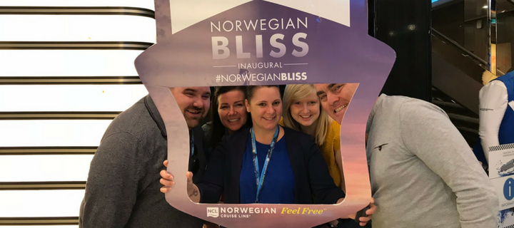 Click&Go team on Norwegian Bliss