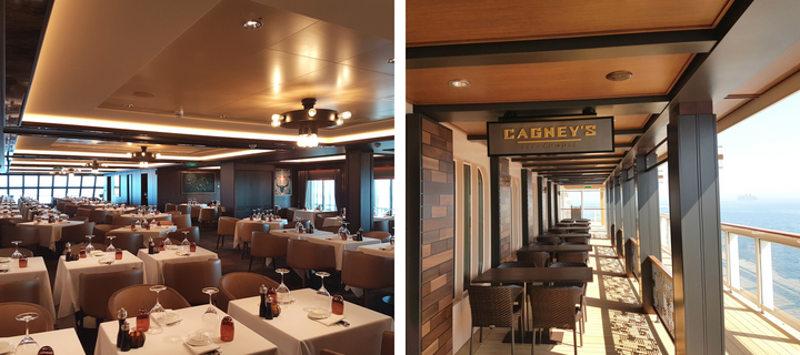 Cagney's Steakhouse on Norwegian Bliss