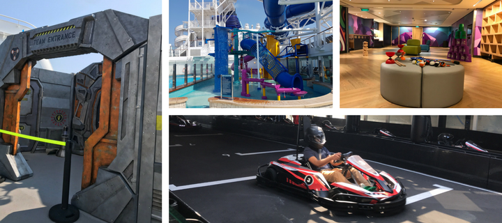Laser tag, go karting, Splash Zone and Splash Academy on Norwegian Bliss