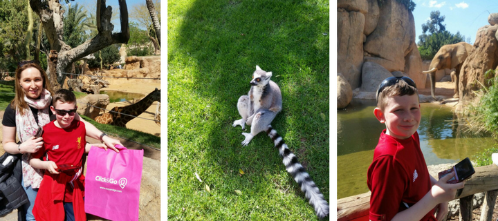 Long family at BioParc Zoo, Valencia