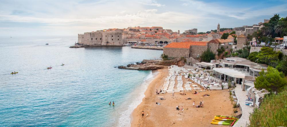 Banje Beach in Dubrovnik, Croatia