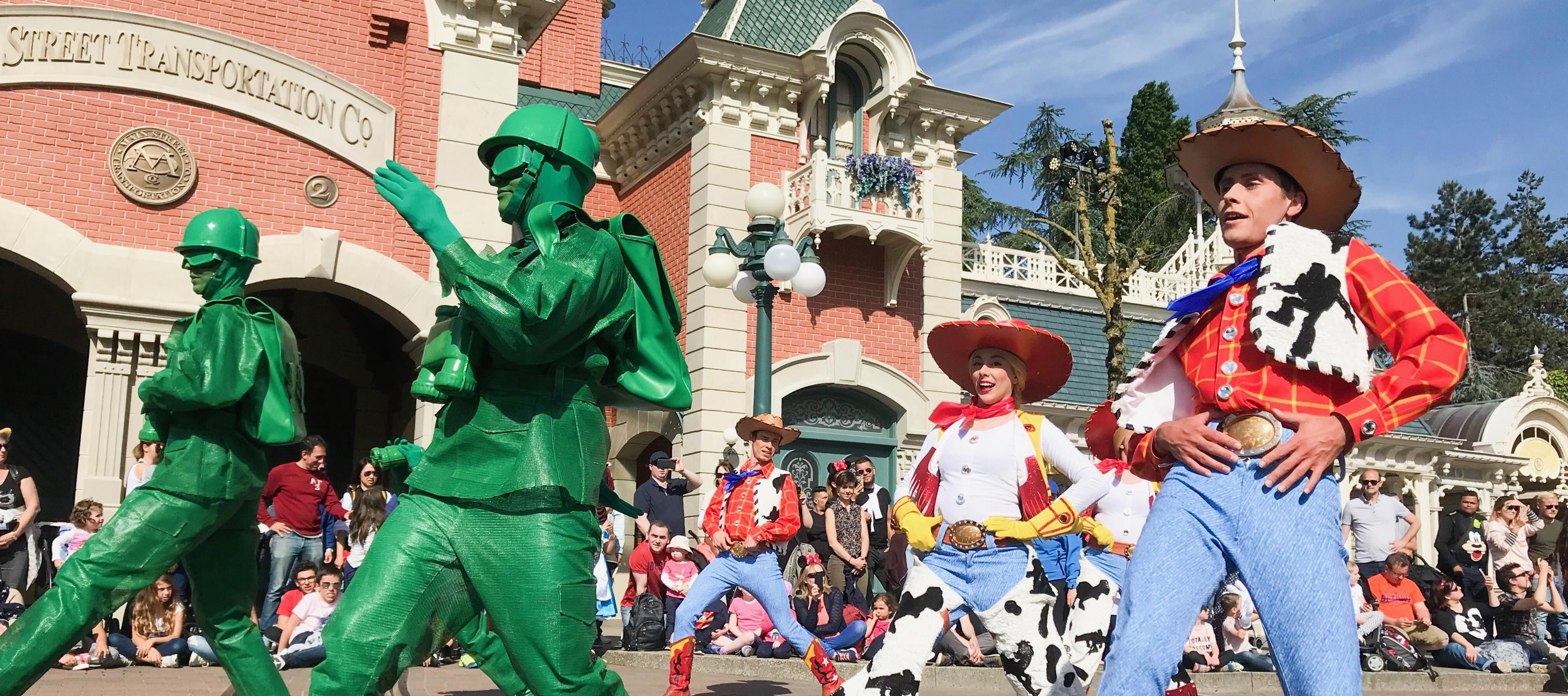 Toy Story Characters in the Character Parade in Disneyland Paris