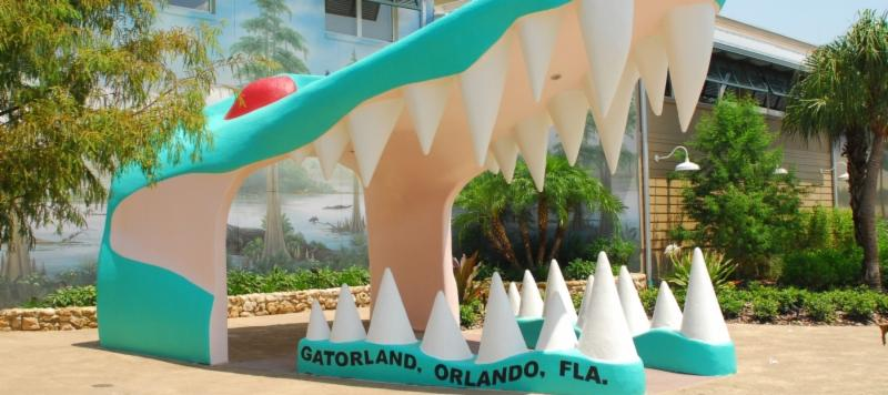 Entrance to Gatorland, Orlando