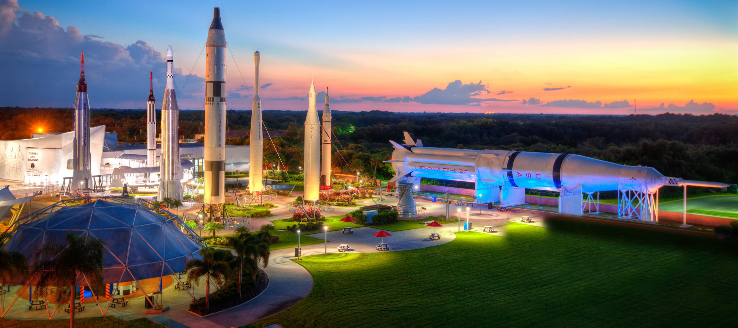 Rocket Garden in Kennedy Space Centre, Orlando