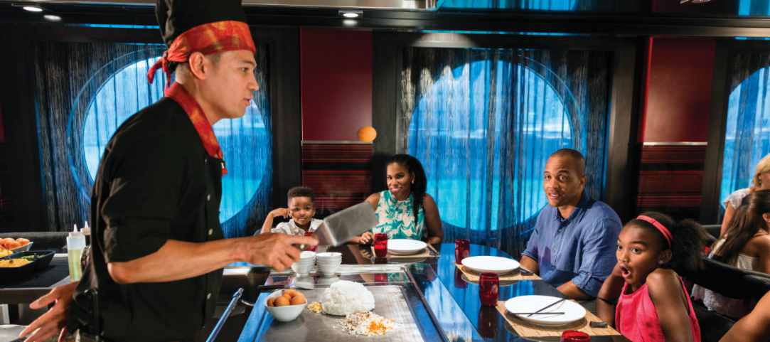 Teppanyaki Restaurant on Royal Caribbean's Independence of the Seas