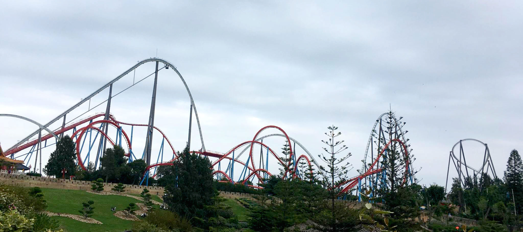 Rollercoaster in PortAventura World