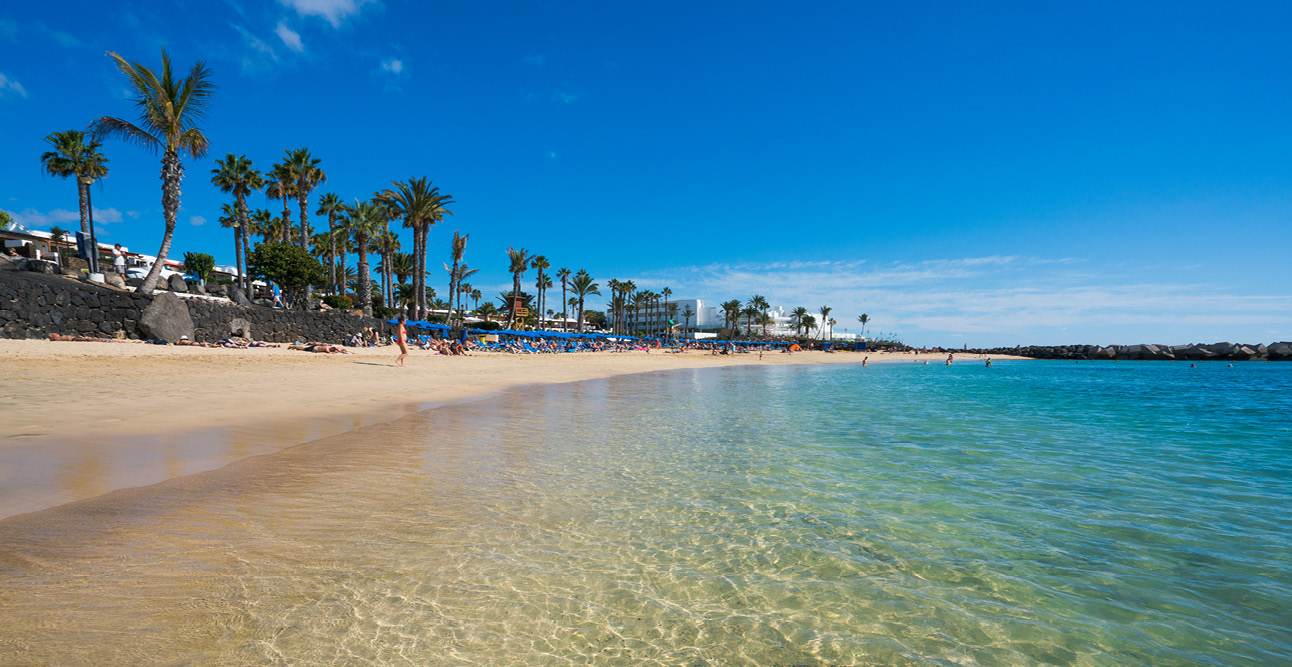 Beach & blue skies in Lanzarote | 7 Reasons to Visit Lanzarote