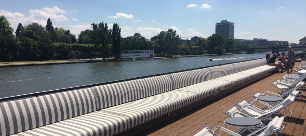 Top deck and seating area on U by Uniworld ship