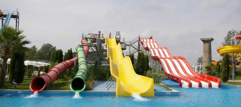 Twister waterslide in Action Aquapark in Sunny Beach, Bulgaria
