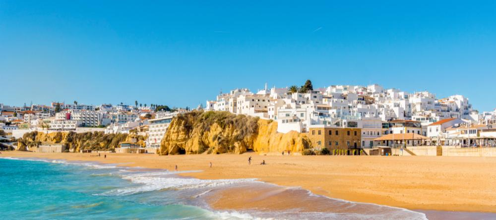 Fisherman's Beach in Albufeira in the Algarve