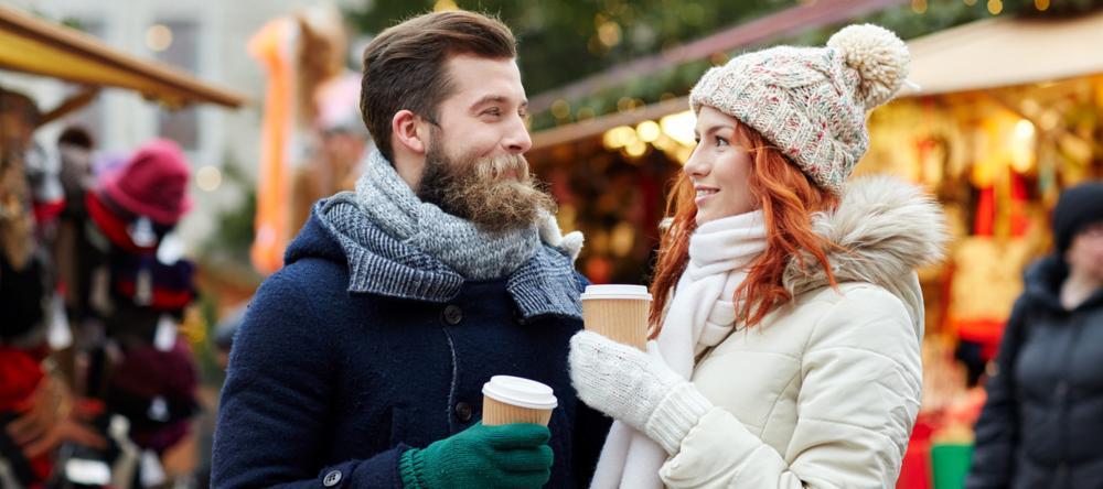Couple at Christmas Market
