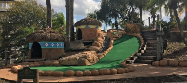 Lost Caverns Mini Golf in Orlando, Florida
