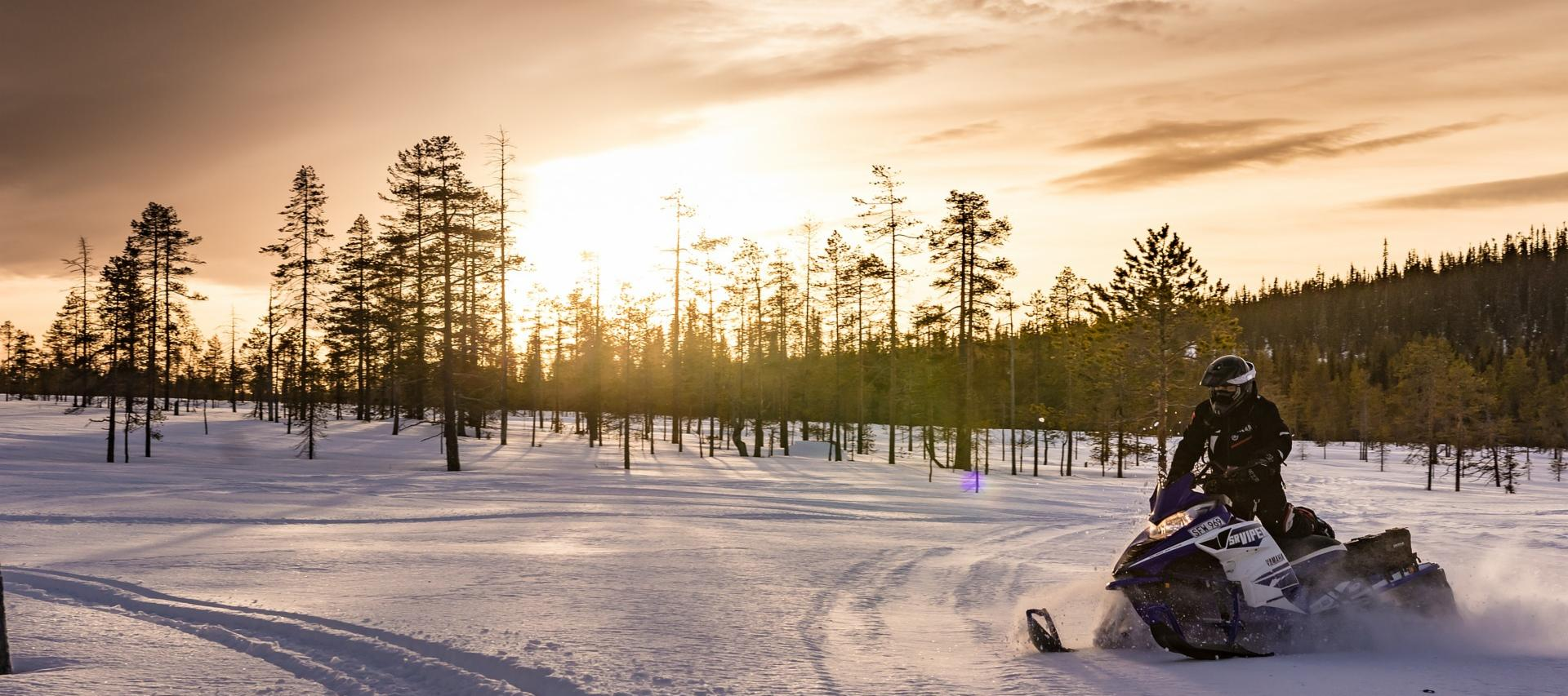 Snowmobile tour in Lapland