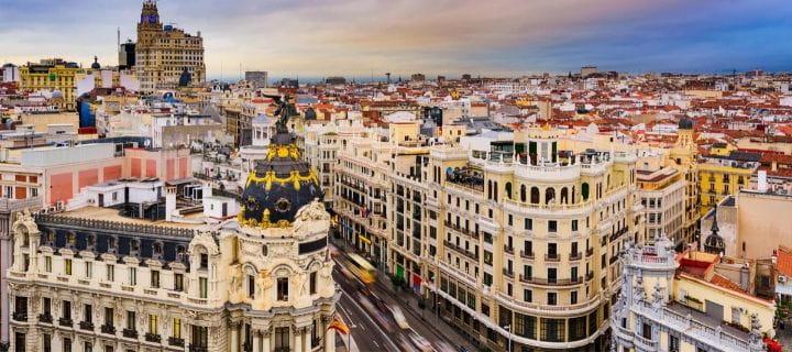 The Gran Via in Madrid
