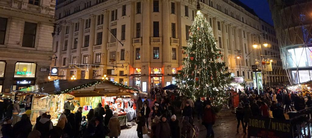 this is the budapests biggest and arguably the most famous and popular christmas market with the crowds to justify peruse the handmade hungarian crafts