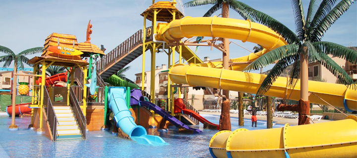 Waterpark in the Albir Garden Resort in the Costa Blanca, Spain.