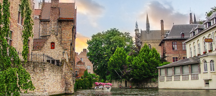 Canal in Bruges, Belgium