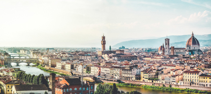 Cityscape of Florence in Italy