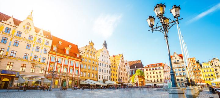 Rynek in Wroclaw, Poland