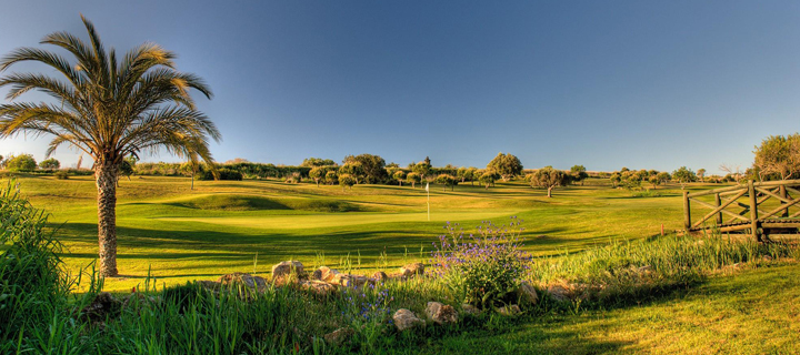 View of the Dom Pedro Golf Course in Vilamoura, Portugal