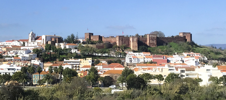 View of Silves town and castle