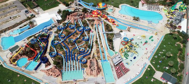 Aerial view of Slide & Splash Park