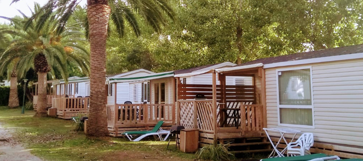 KelAir Campotel mobile homes at campsite in Spain