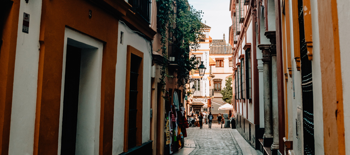 Small side streets in Seville