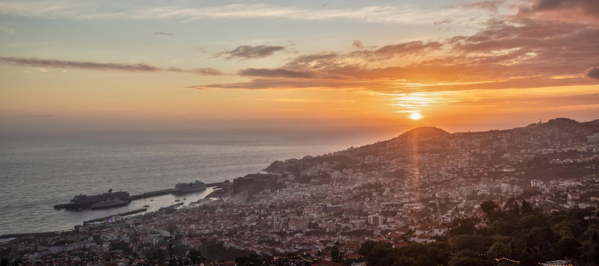 Sunset over Funchal, Madeira