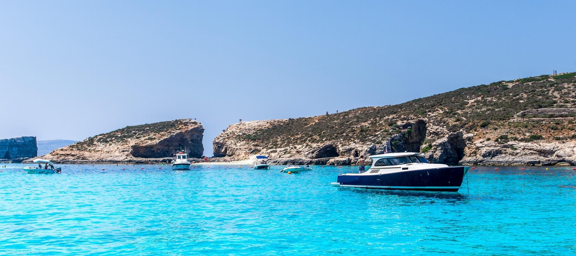 The Blue Lagoon in Comino, Malta