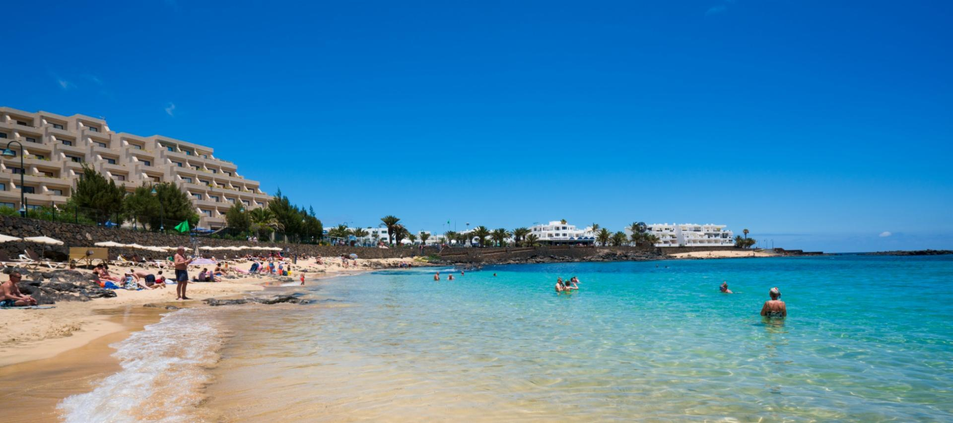 Beach in Costa Teguise in Lanzarote