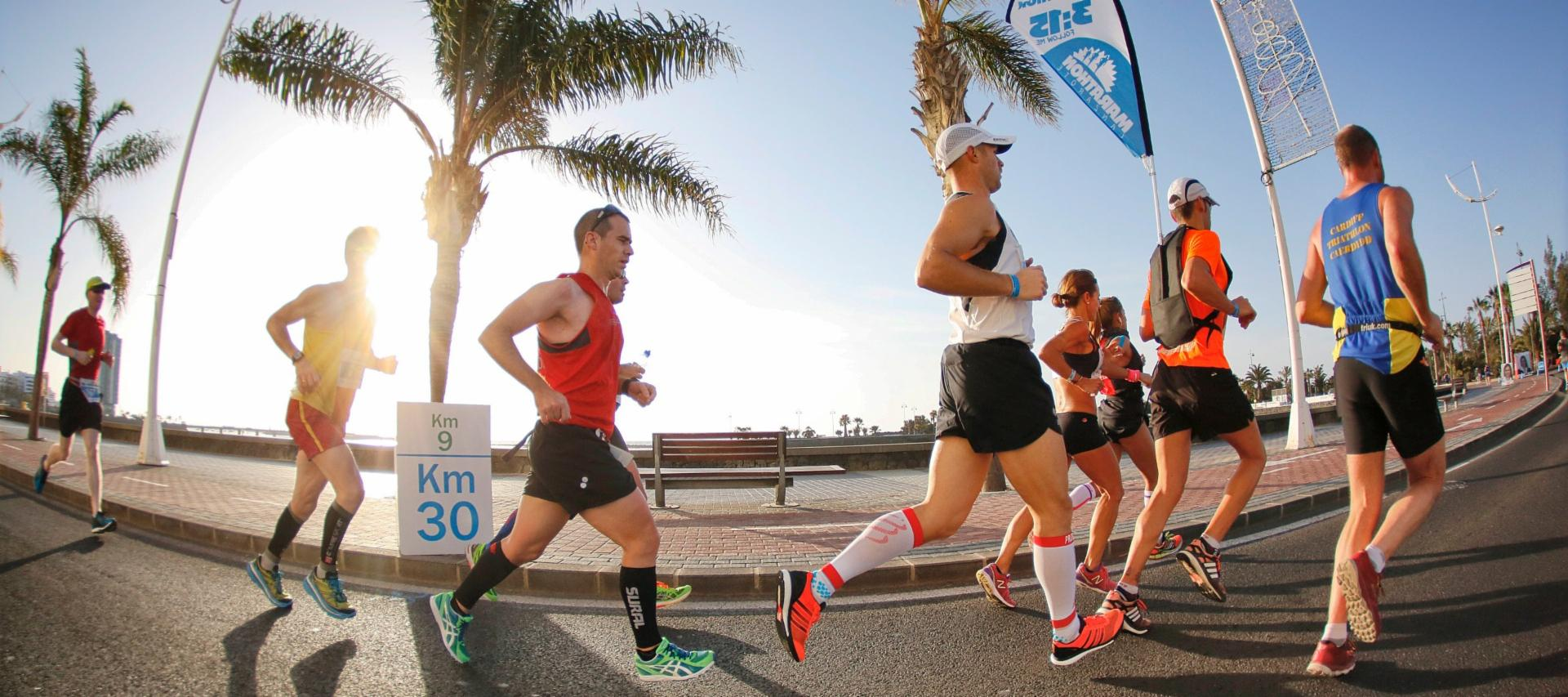 Runners in the Lanzarote Marathon