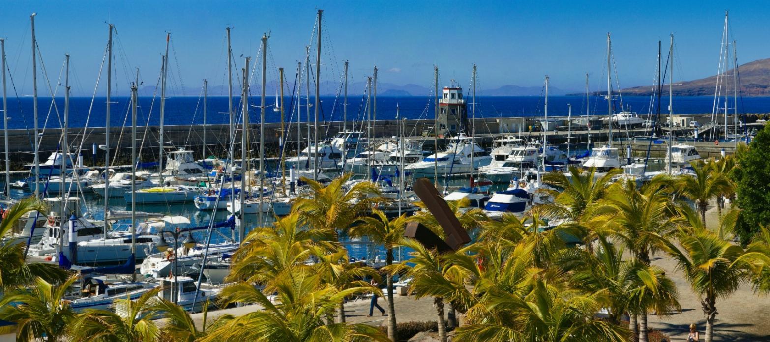 Marina in Puerto Calero in Lanzarote