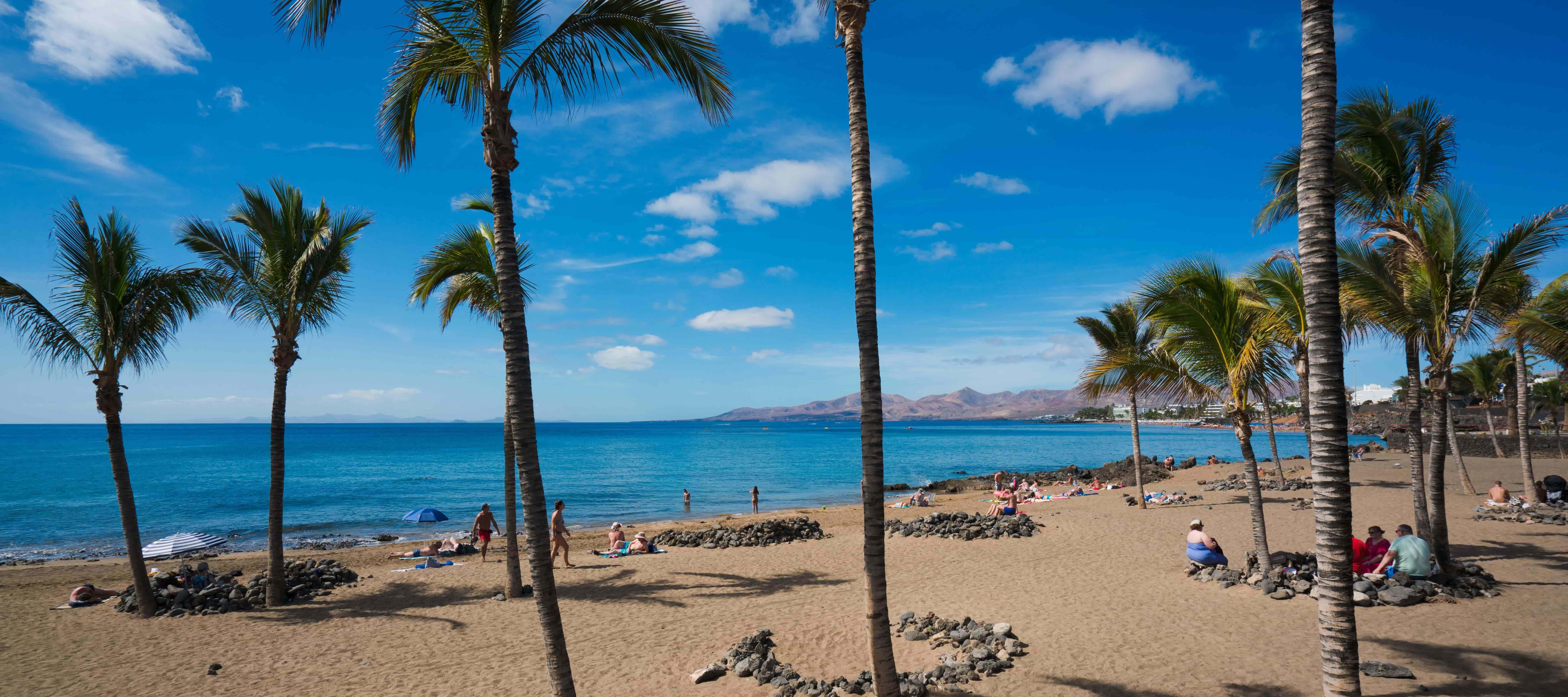 Playa Grande in Puerto del Carmen, Lanzarote