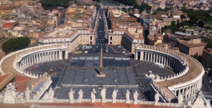 Birds Eye View of St. Peter's Square