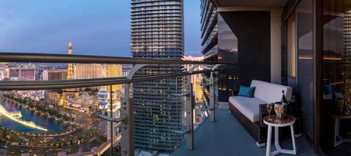 View from Terrace Suite in the Cosmopolitan Hotel in Las Vegas