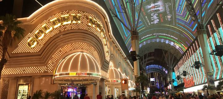 Exterior of the Golden Nugget on Freemont Street Las Vegas