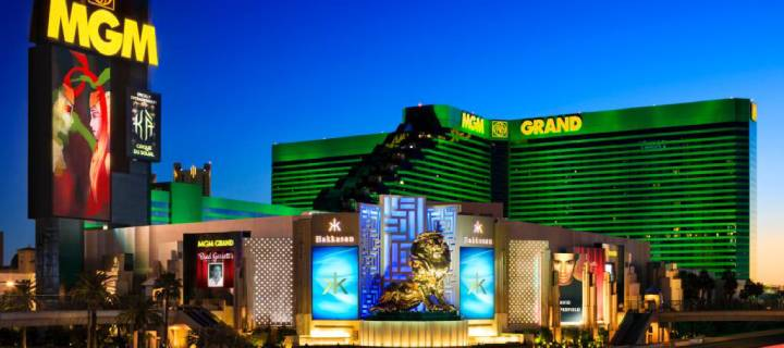 Exterior of MGM Grand Hotel in Las Vegas