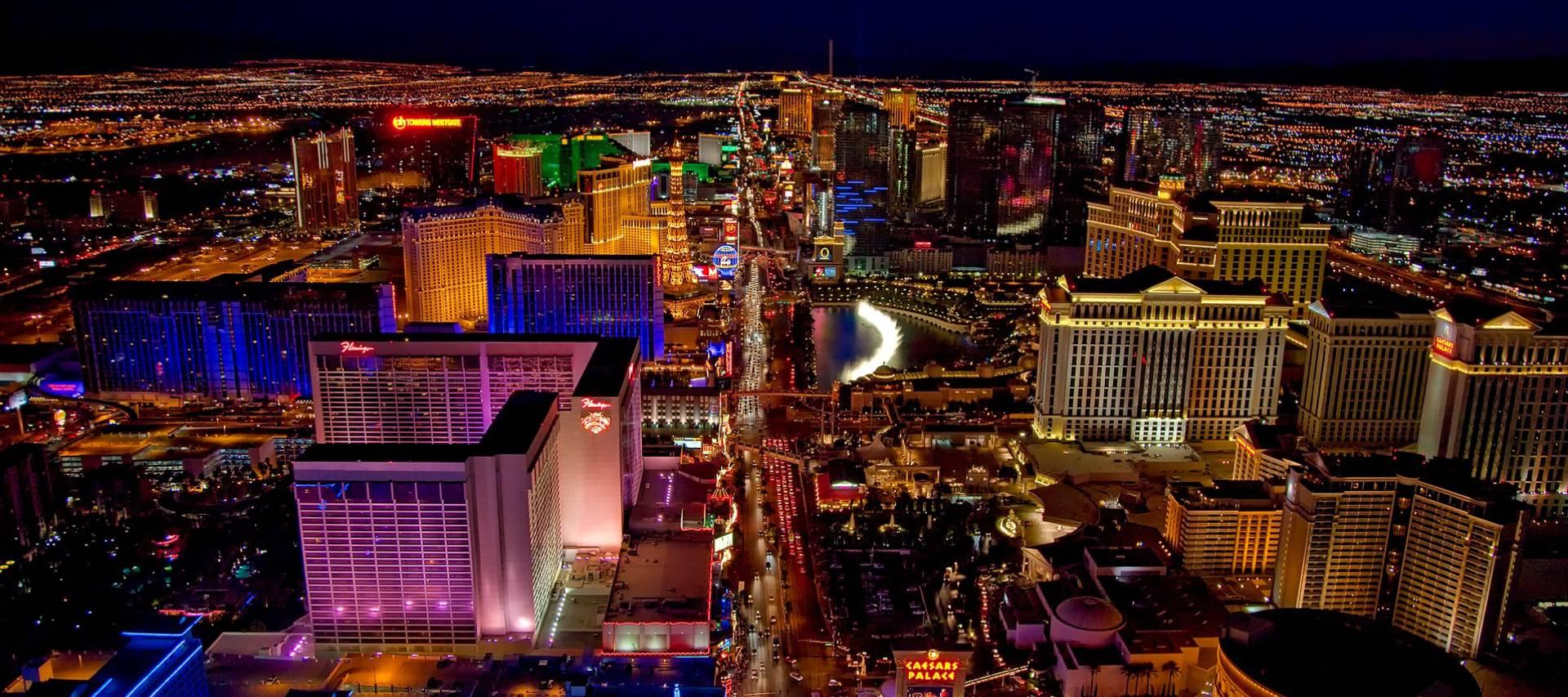 Aerial view of Las Vegas' Strip